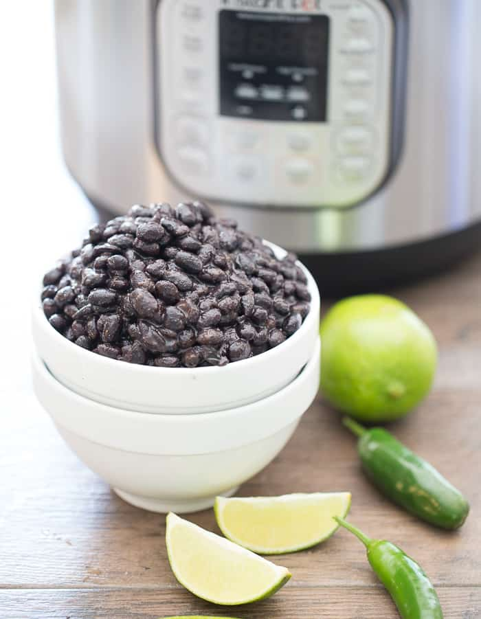 Instant Pot Black Beans ready to serve without garnish