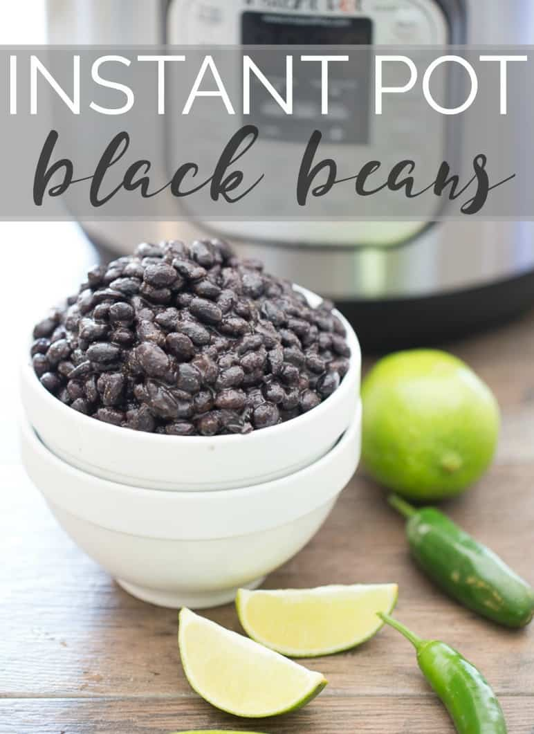 Easy instant pot black beans recipe