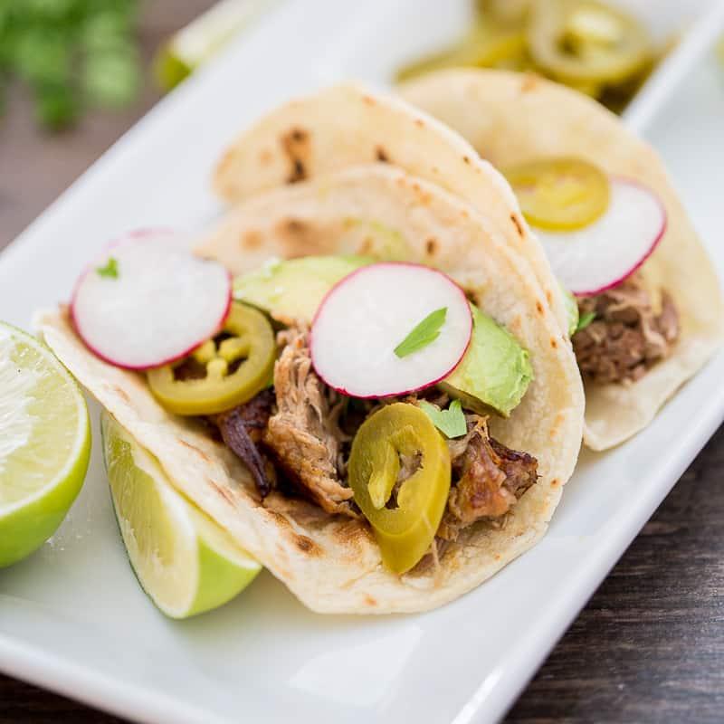 Instant Pot Pork Carnitas Tacos Featured Image