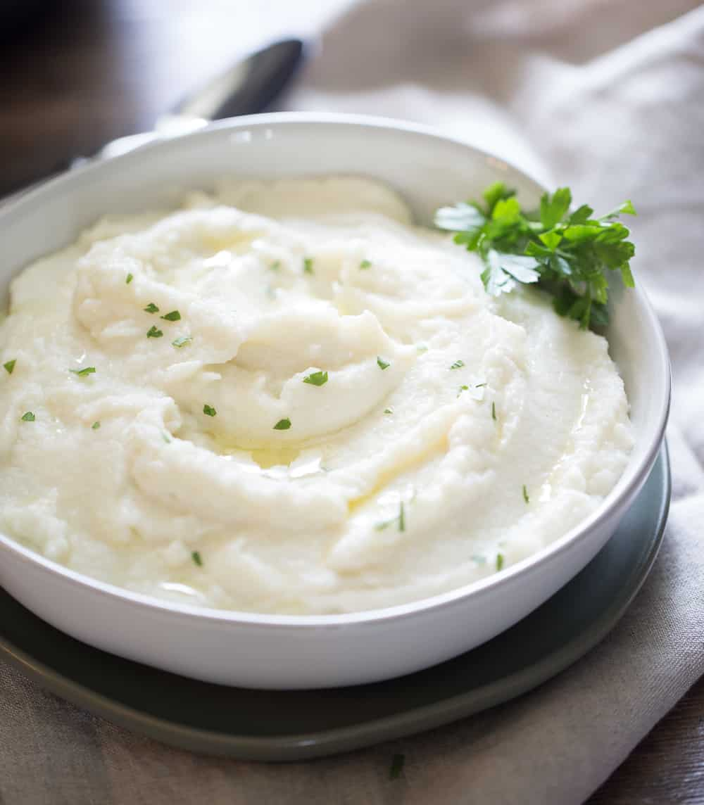 Instant Pot Mashed Potatoes ready to serve