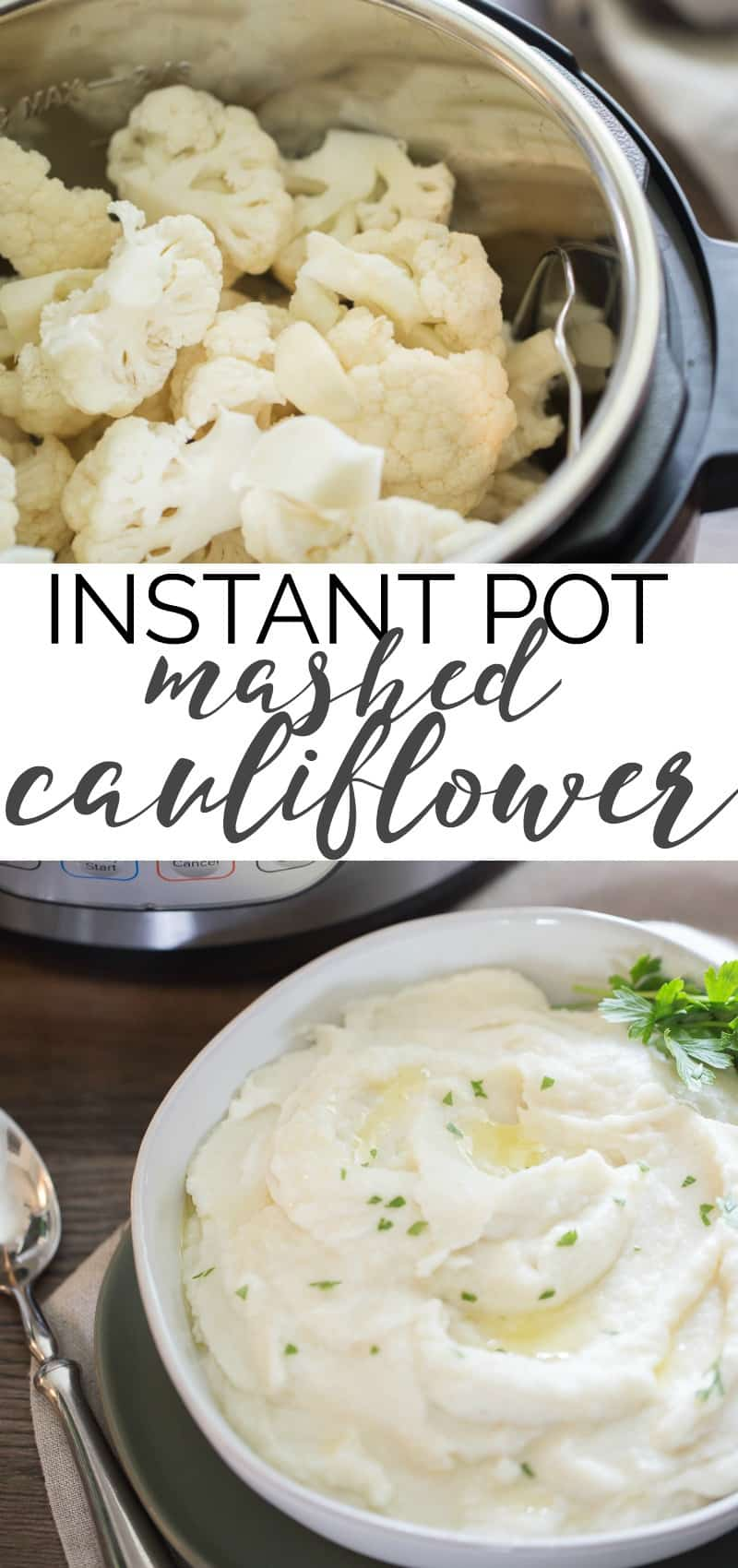 instant pot mashed cauliflower recipe pin