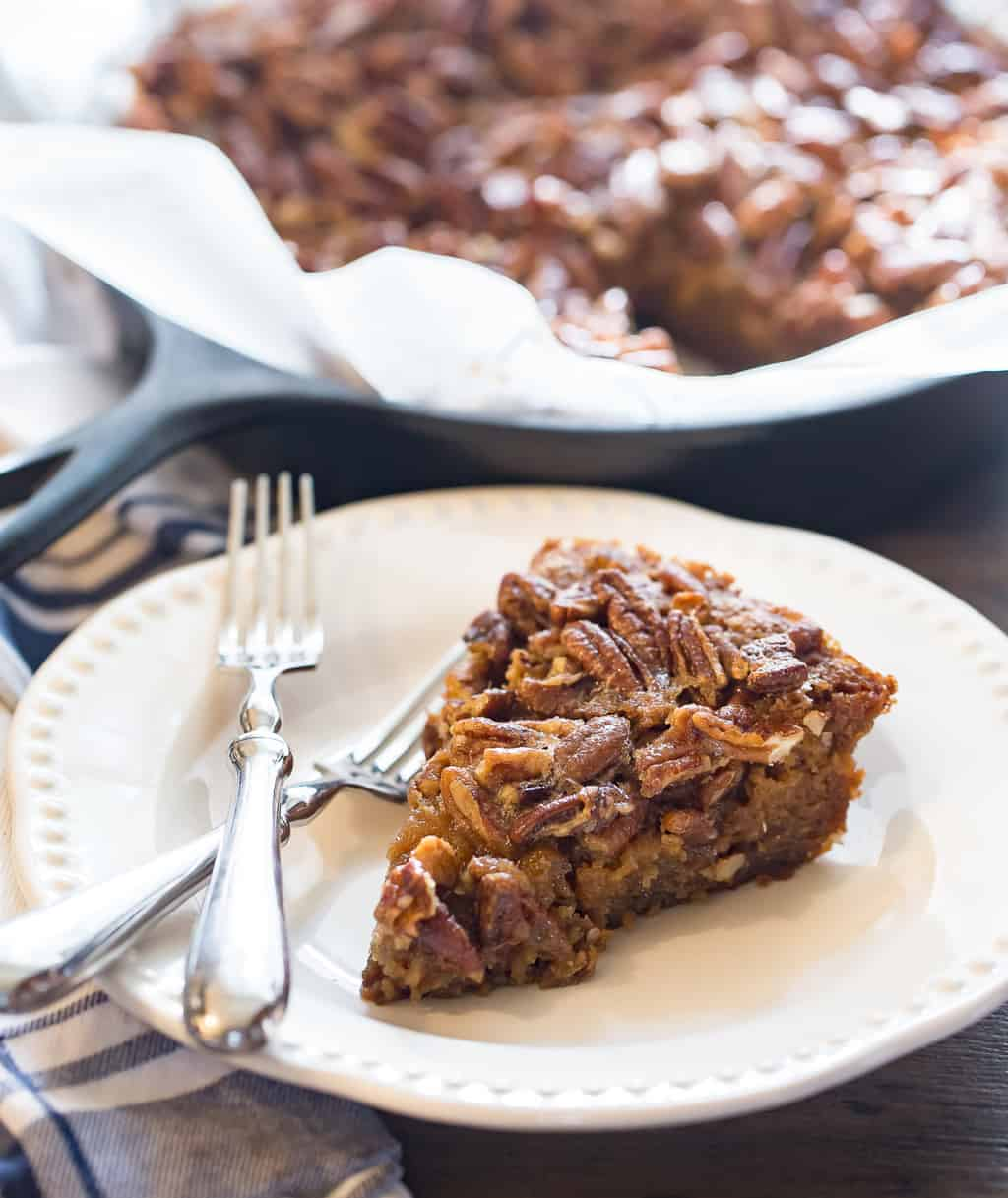 Bourbon Pecan Pie Blondie