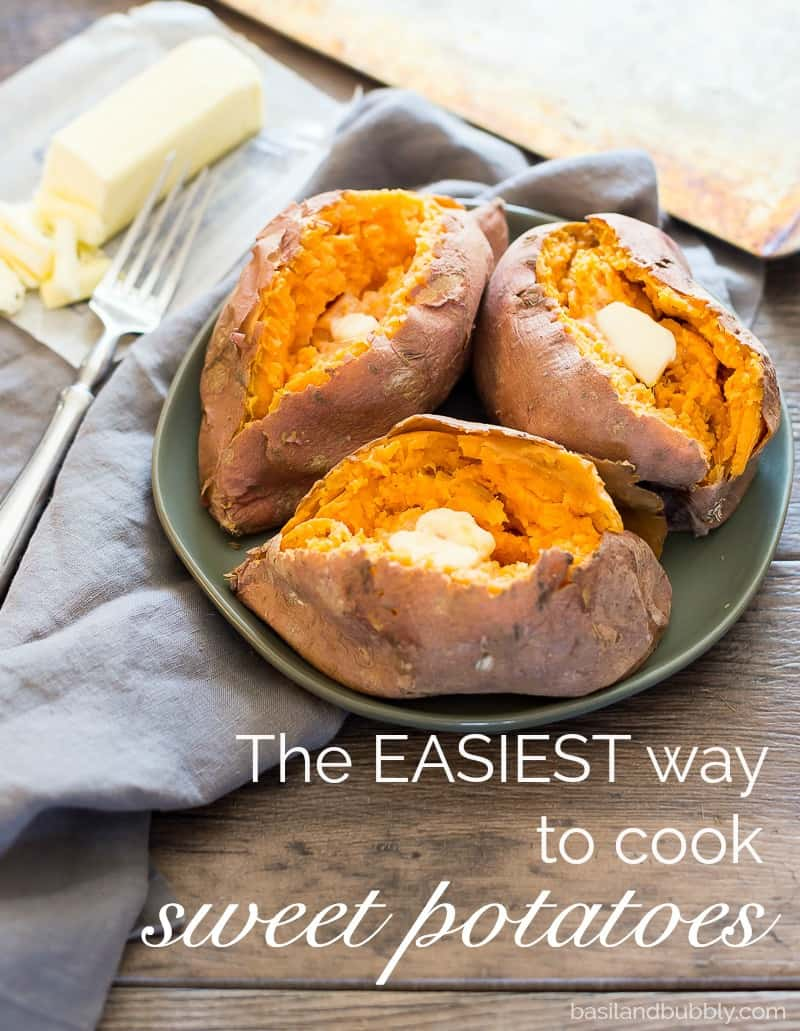 "The easy way to cook sweet potatoes - how to ""bake"" a sweet potato in the microwave!"