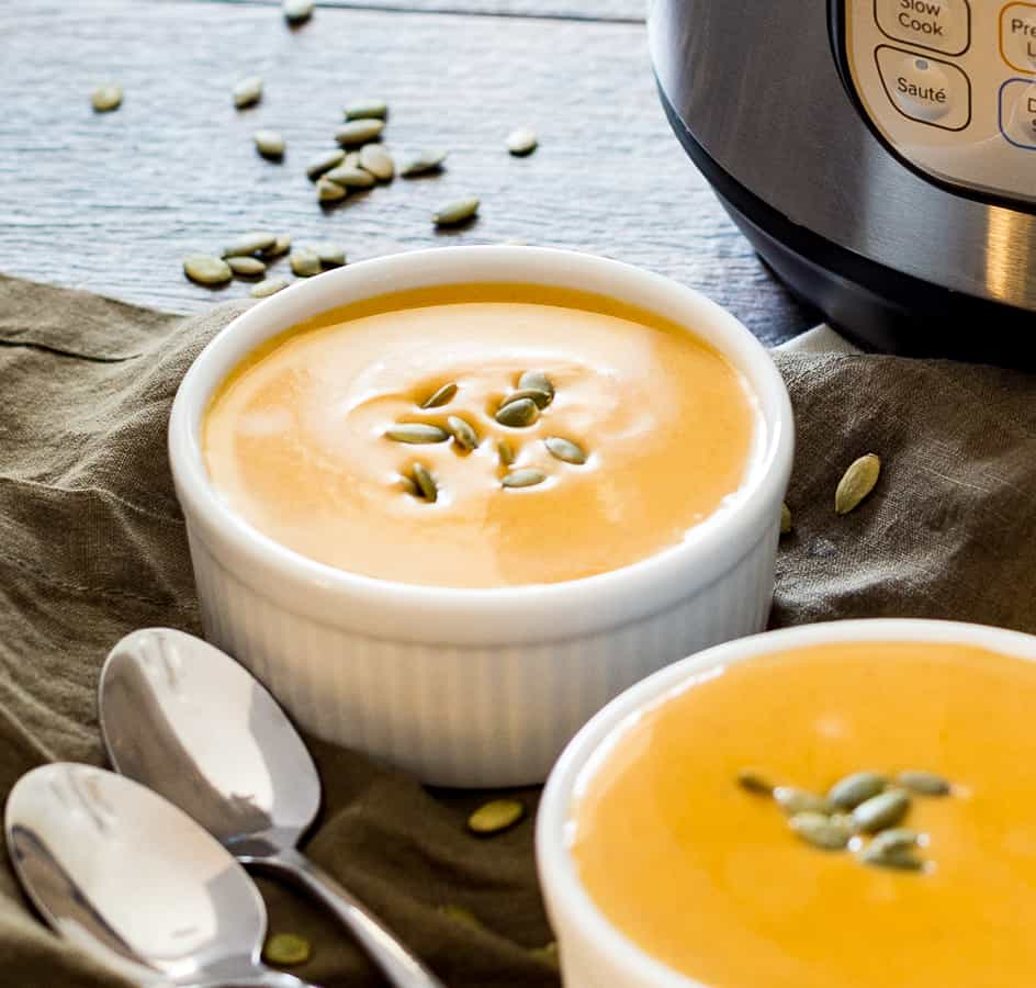 Instant Pot Butternut Squash without extra cream garnish