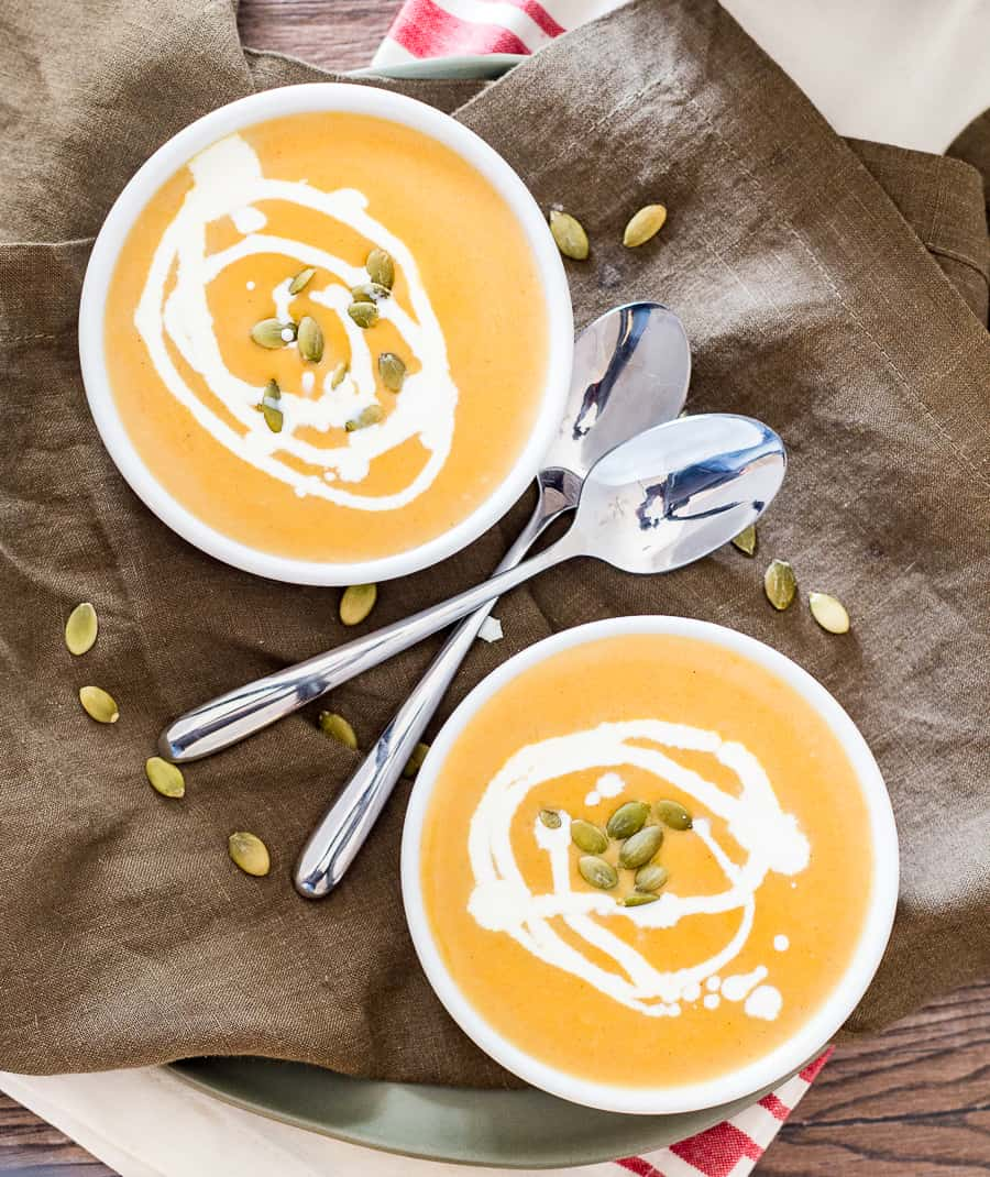 Instant Pot Butternut Squash from Above