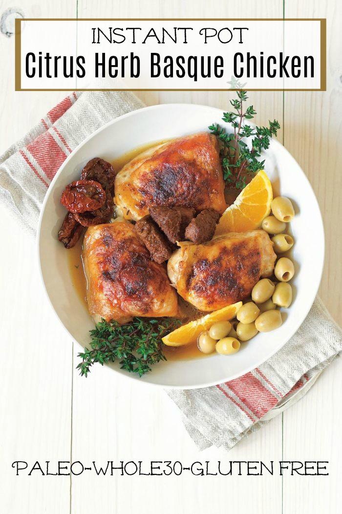 Organic Chicken Citrus Herb Instant Pot Chicken Recipe