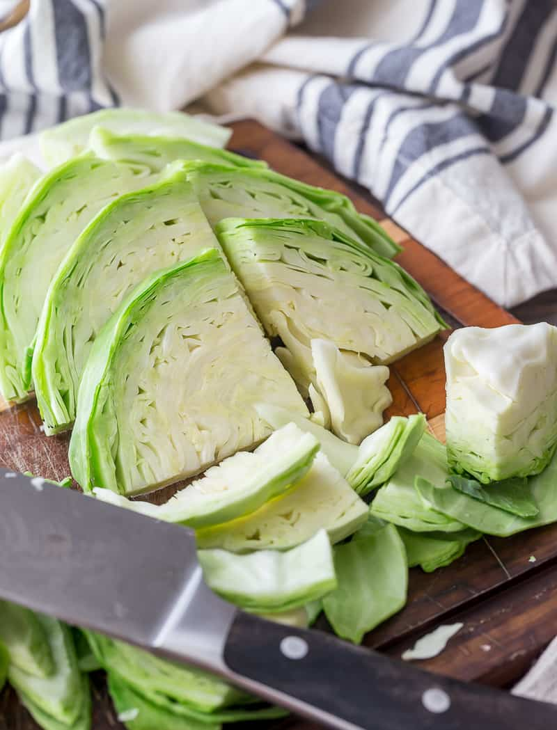 cut up cabbage