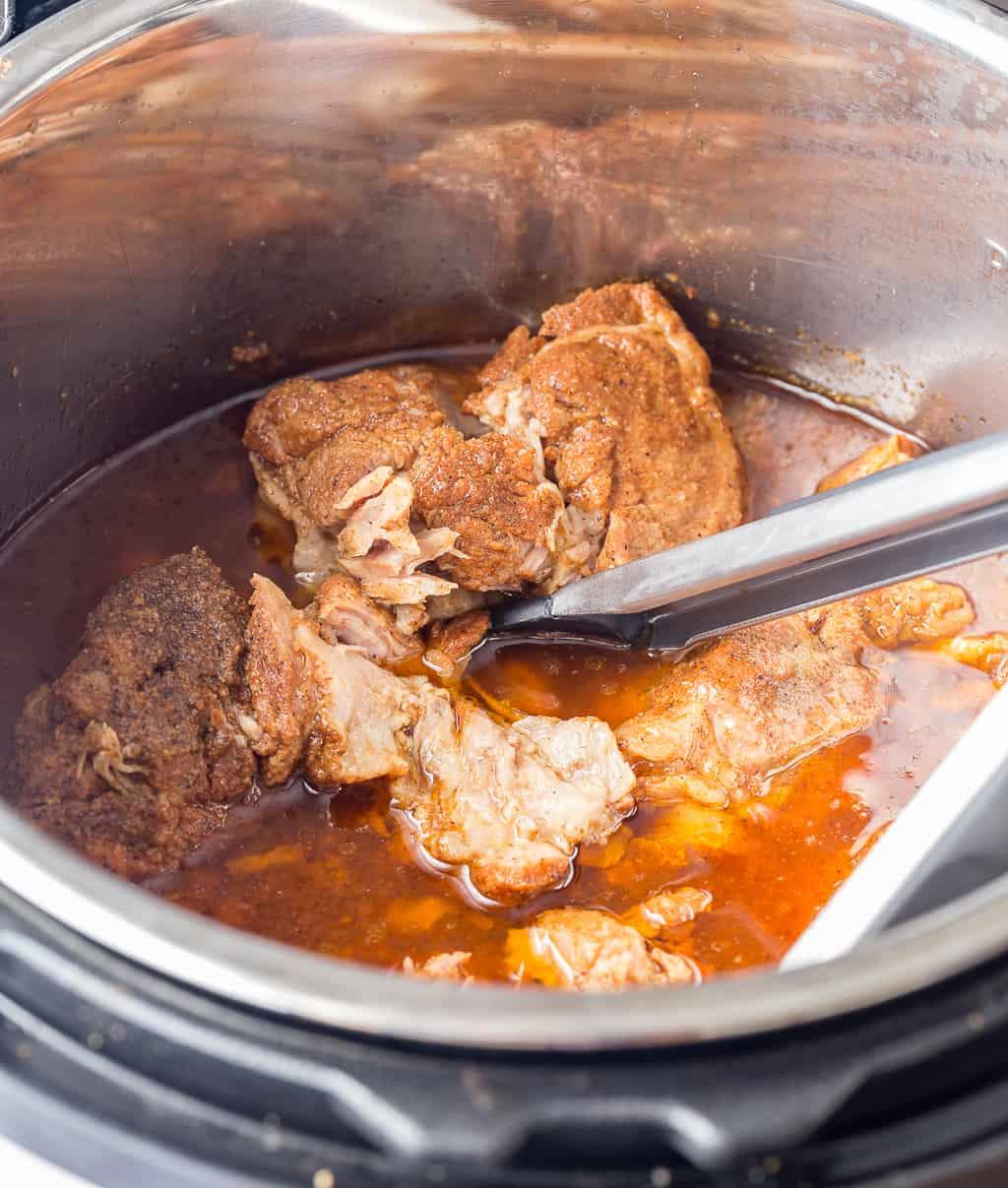 Instant Pot Pork Shoulder Ready to be Shredded