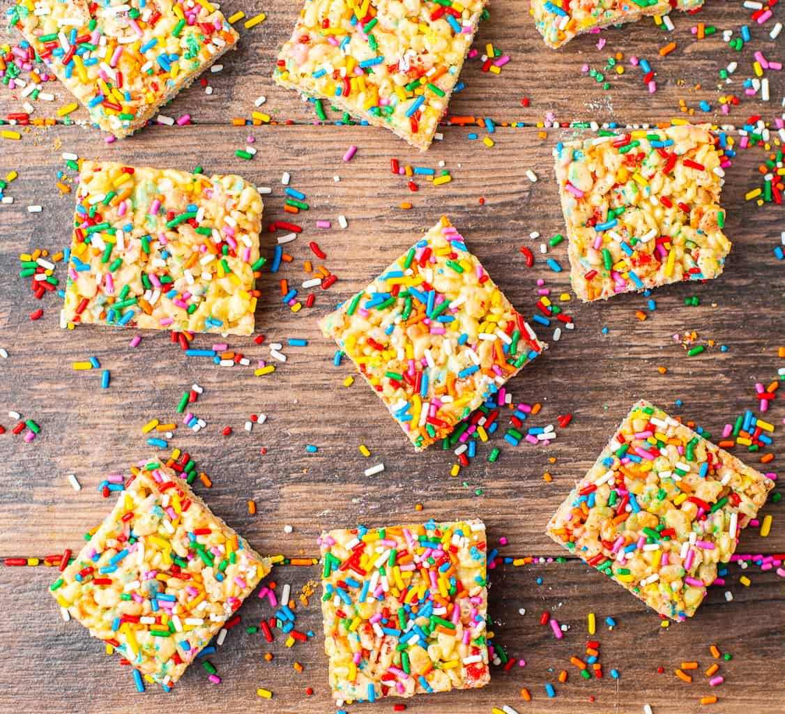 cake flavored rice krispie treats