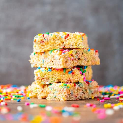 Stupendous Birthday Cake Rice Krispie Treats Basil And Bubbly Birthday Cards Printable Giouspongecafe Filternl