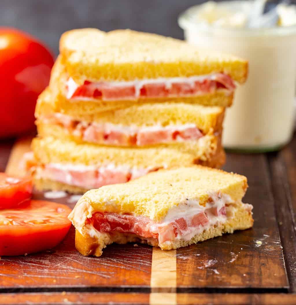 Tomato Sandwich with bite