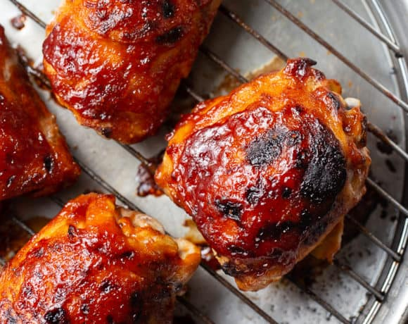 Baked BBQ Chicken Thighs