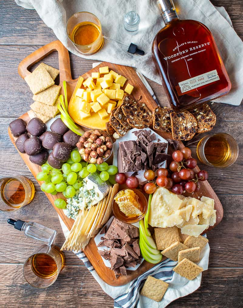 Cheese and Chocolate Board with Woodford Reserve
