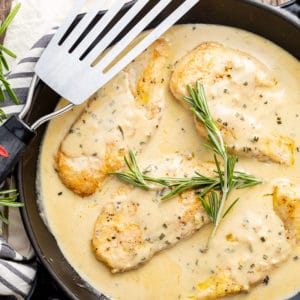 creamy chicken with rosemary sauce
