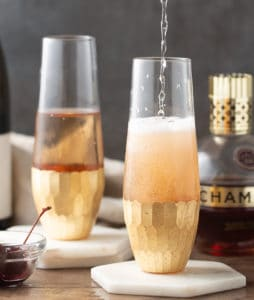 kir royale with prosecco