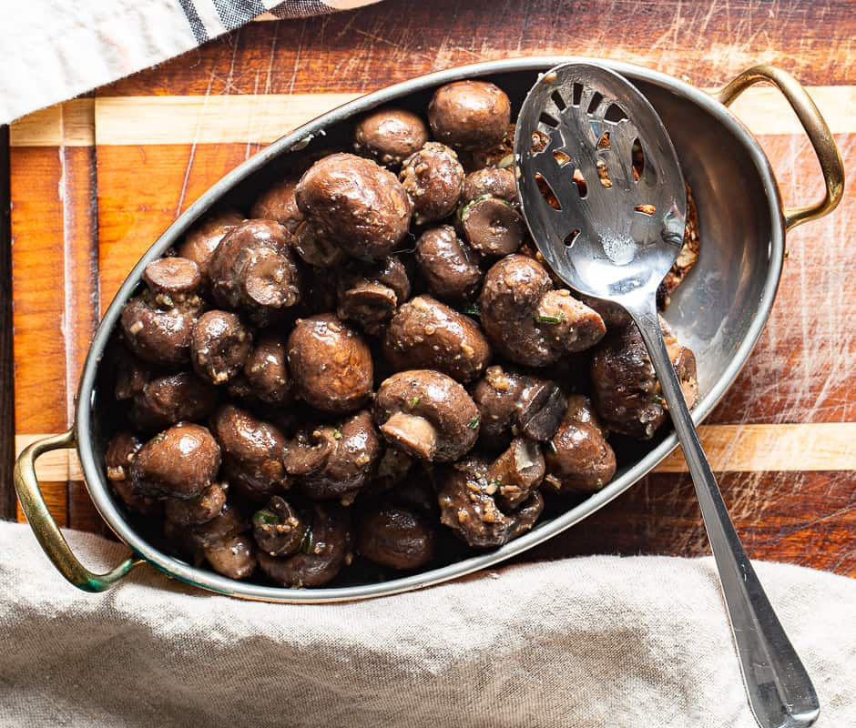 garlic butter mushroom steakhouse side dish