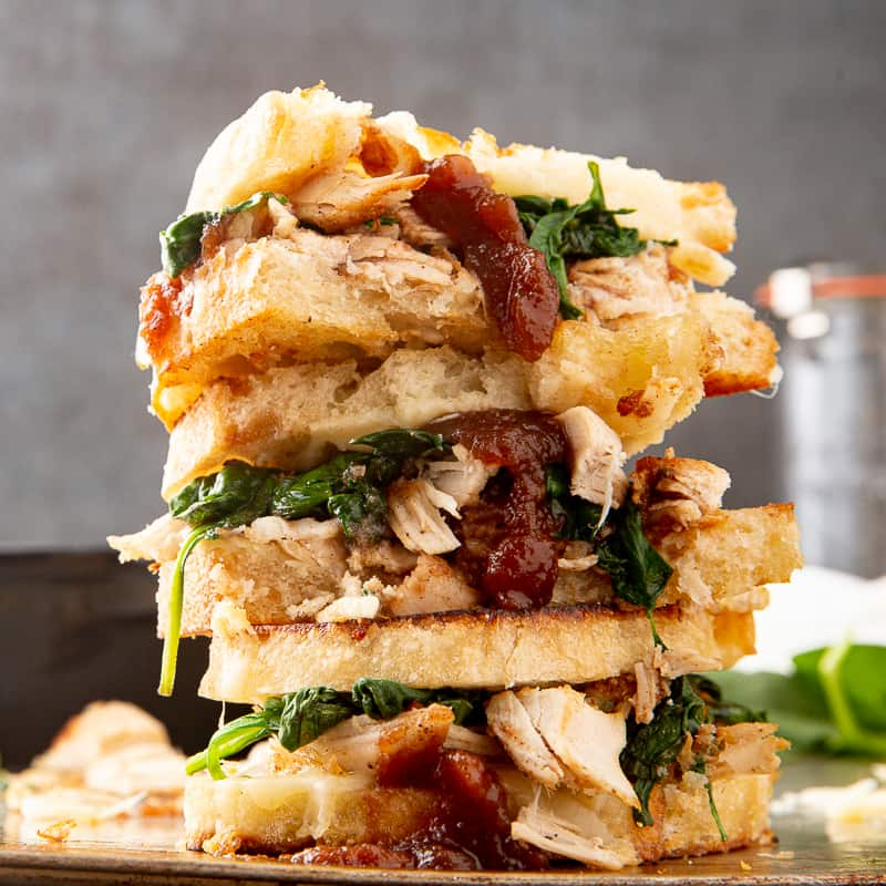Apple Butter Turkey Spinach Grilled Cheese