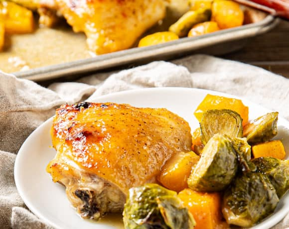 Maple Dijon Chicken Sheet Pan Dinner