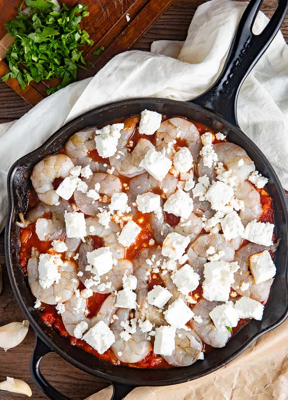 greek shrimp and feta