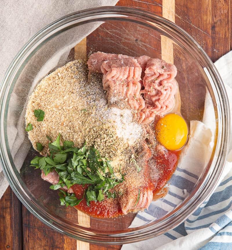 turkey meatball ingredients