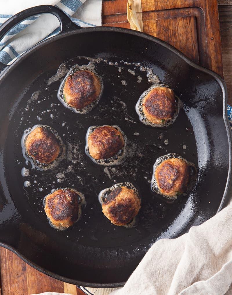 pan fried meatballs