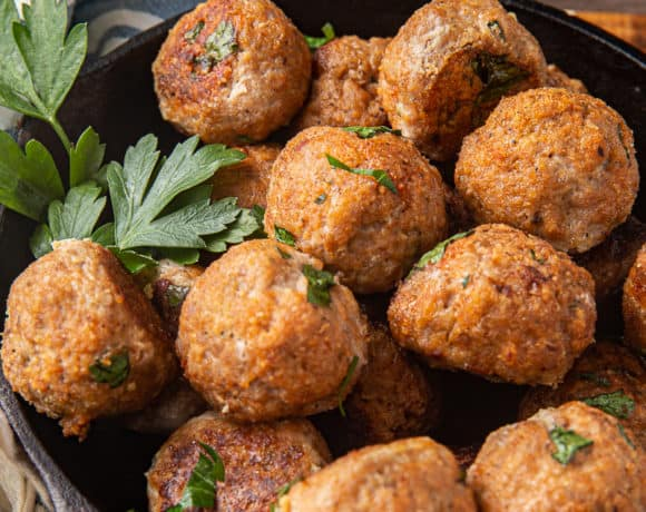 healthy turkey meatballs