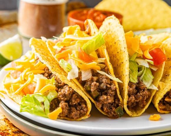 healthy beef tacos