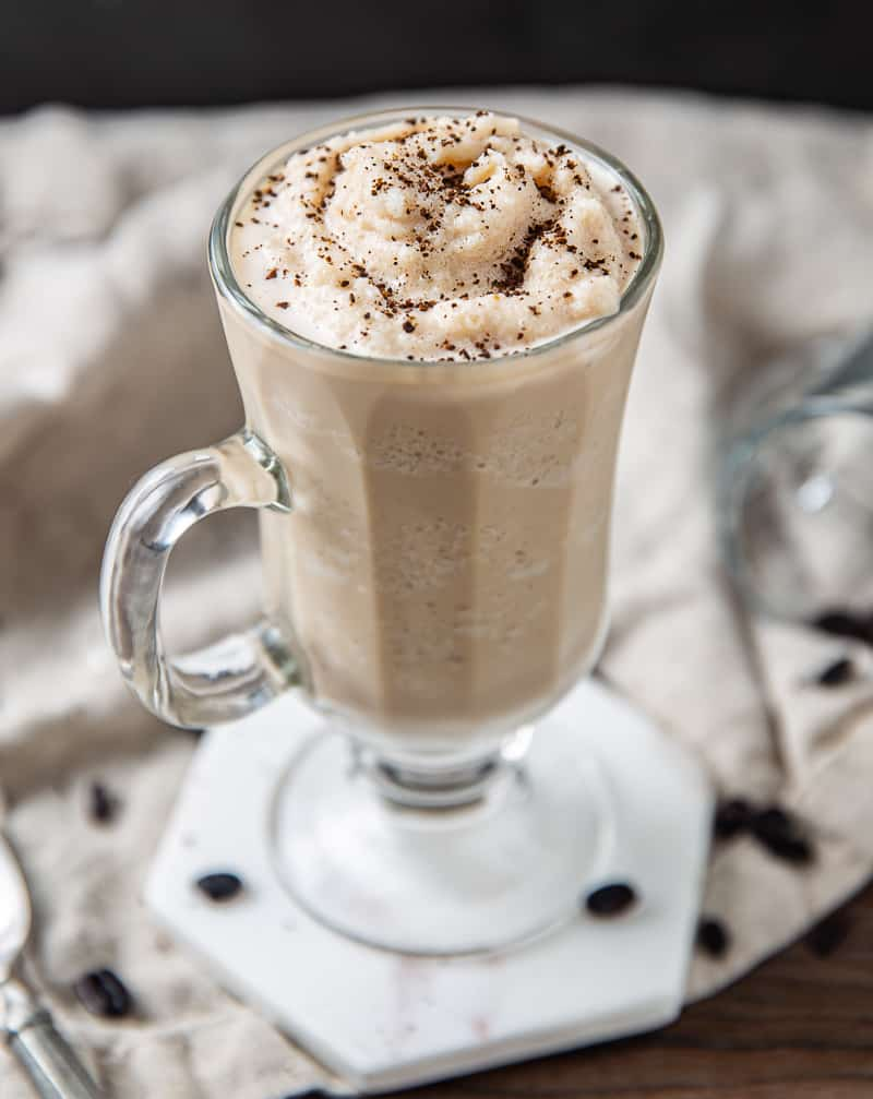 Frozen Irish Coffee with Whiskey