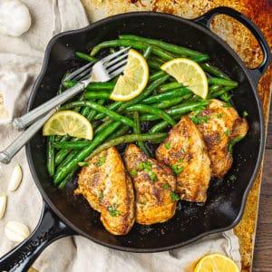 lemon garlic chicken skillet