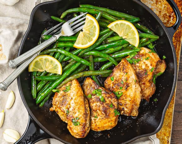lemon garlic chicken skillet