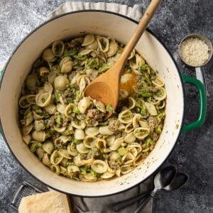 orecchiette pasta with broccoli sauce