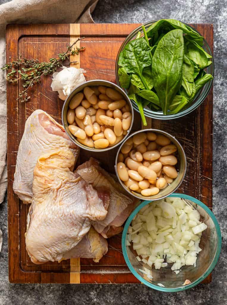 ingredients to make chicken thigh skillet
