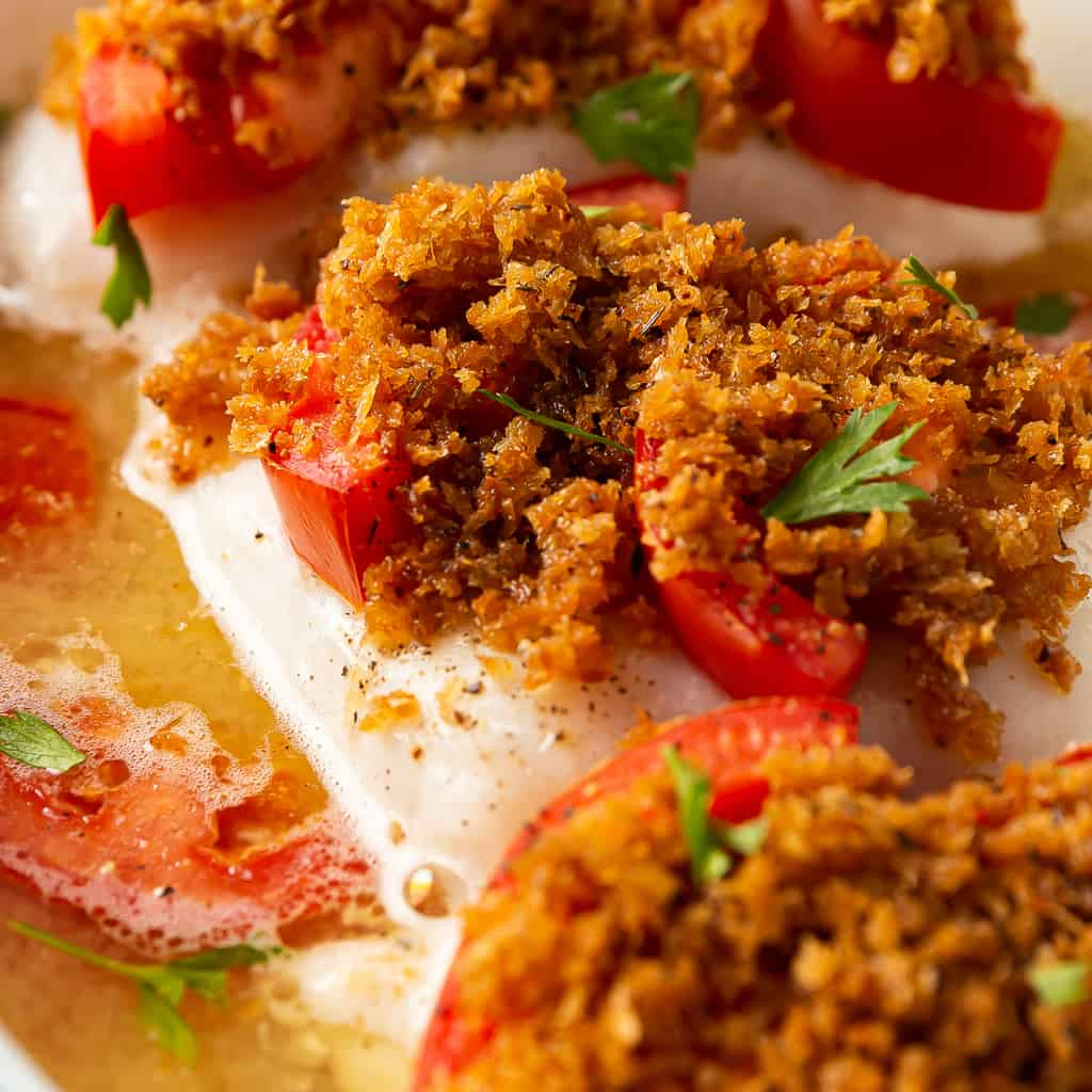 baked cod with breadcrumbs