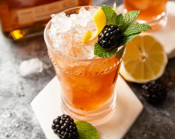 blackberry bourbon bramble