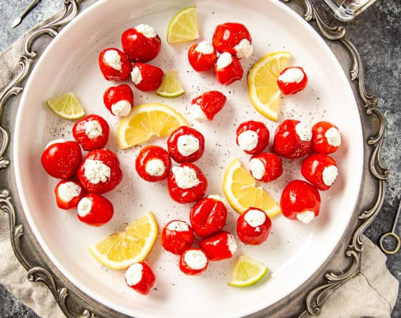 goat cheese stuffed peppadews
