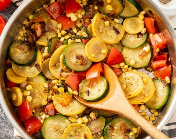 Zucchini and Corn Skillet