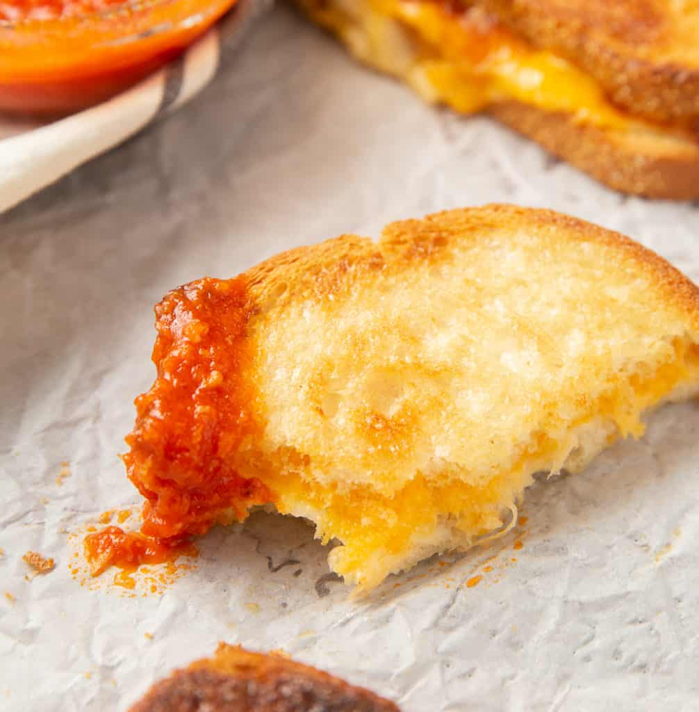 grilled cheese dipped in marinara sauce