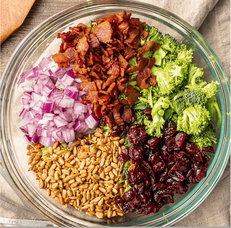ingredients for broccoli salad