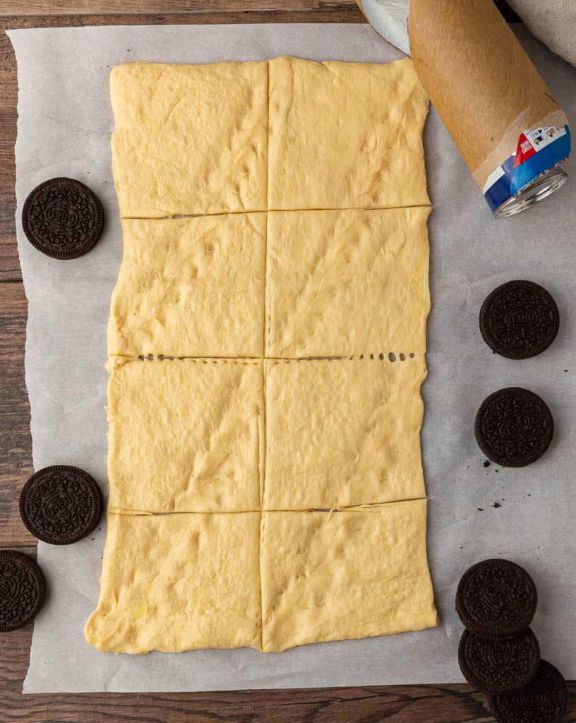 how to cut dough for air fried oreos