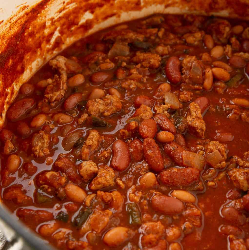 homemade turkey chili