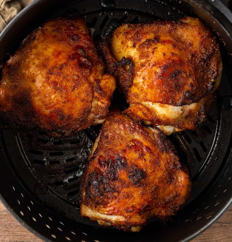crispy air fryer chicken thighs
