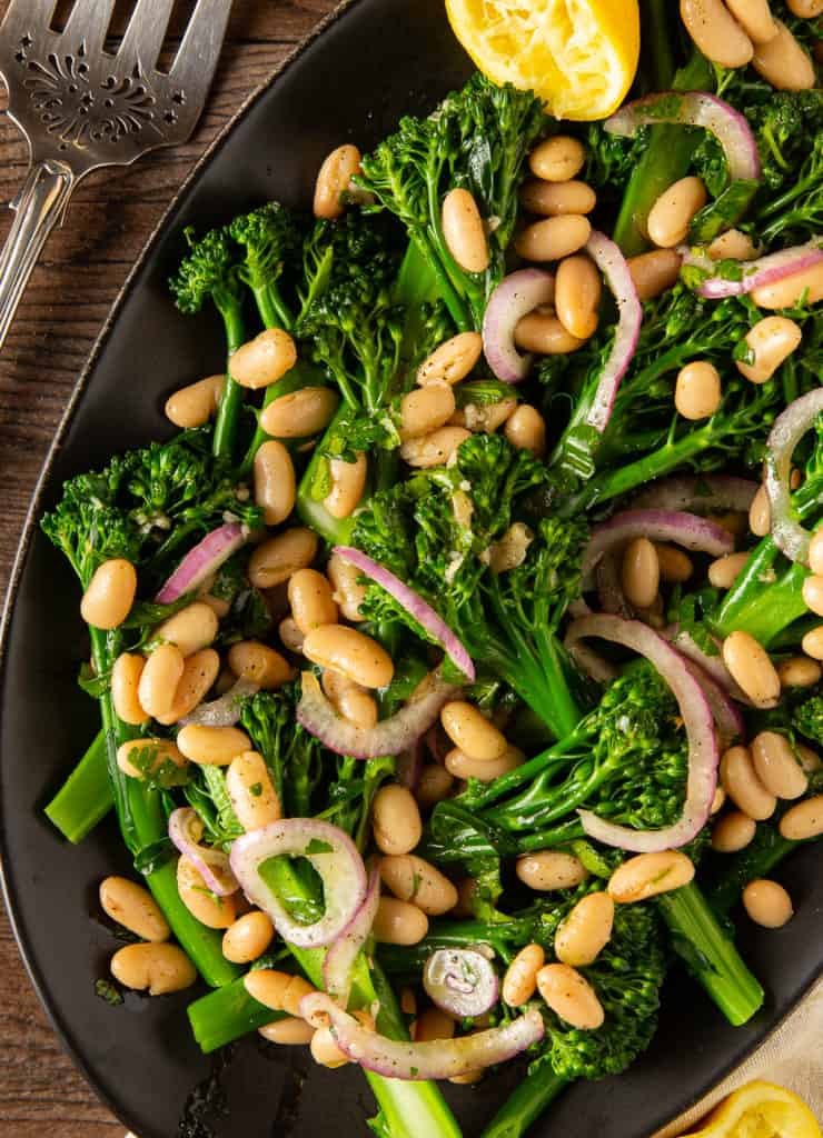 broccolini salad with white beans