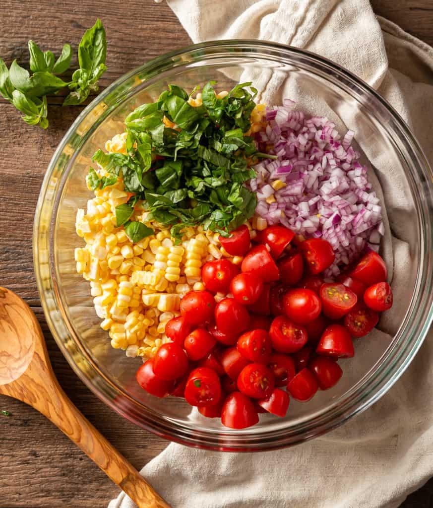 how to make corn tomato salad